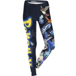 Pokemon Pikachu Anime Game Kawaii Black Long Skinny Pants Halloween