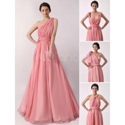 A line Floor length Chiffon Convertible Bridesmaid Dress Milanoo found on MODAPINS from Milanoo.com Ltd for USD $111.99