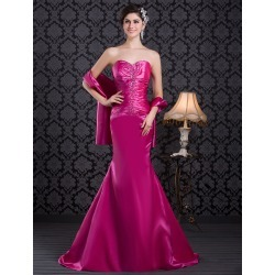 Formal Fuchsia Sweetheart Neck Mermaid Evening Dress found on MODAPINS from Milanoo.com Ltd for USD $165.99