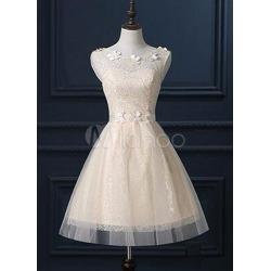 Illusion Neckline A-Line Bridesmaid Dress found on MODAPINS from Milanoo.com Ltd for USD $89.99