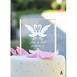 Crystal Square Wedding Cake Topper