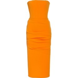 Alex Perry Moda Exclusive Mena Strapless Gathered Crepe Midi Dress found on MODAPINS from Moda Operandi for USD $440.00