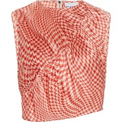 Ganni Printed Silk-Satin Top found on Bargain Bro Philippines from Moda Operandi for $245.00