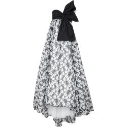 Carolina Herrera Bow-Detailed Floral-Embroidered Organza Gown found on Bargain Bro India from Moda Operandi for $6990.00