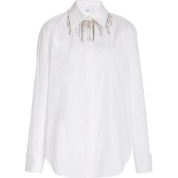 Area Crystal-Embellished Stretch-Cotton Shirt found on MODAPINS from Moda Operandi for USD $650.00