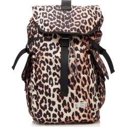 Ganni Leopard-Print Shell Backpack found on Bargain Bro Philippines from Moda Operandi for $205.00