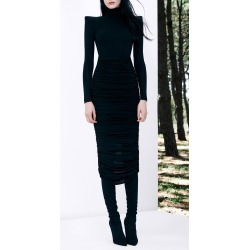 Alex Perry Fallon Ruched Jersey Midi Dress found on MODAPINS from Moda Operandi for USD $800.00