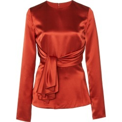 Brandon Maxwell Tie-Front Silk-Satin Blouse found on MODAPINS from Moda Operandi for USD $748.00