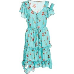 R13 Deconstructed Floral Print Babydoll Dress