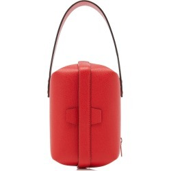 Valextra Tric Trac Mini Leather Top Handle Bag