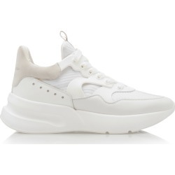 Alexander McQueen Suede-Trimmed Leather Sneakers found on MODAPINS from Moda Operandi for USD $590.00