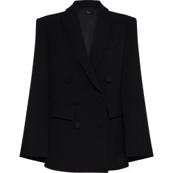 Alex Perry Prescott Satin Crepe Double-Breasted Cape Blazer found on MODAPINS from Moda Operandi for USD $2600.00
