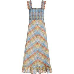 Ganni Seersucker Plaid Cotton-Blend Midi Dress found on Bargain Bro Philippines from Moda Operandi for $285.00