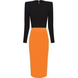 Alex Perry Darley Two-Tone Crepe Midi Dress found on MODAPINS from Moda Operandi for USD $540.00