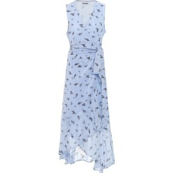 Ganni Printed Georgette Wrap Midi Dress found on Bargain Bro Philippines from Moda Operandi for $245.00