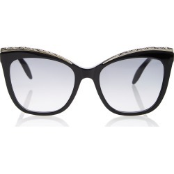 Alexander McQueen Crystal-Embellished Acetate Cat-Eye Sunglasses found on MODAPINS from Moda Operandi for USD $338.00