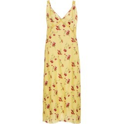 R13 Side Stripe Floral Print Slip Dress