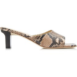 Aeyde Katti Snake-Effect Leather Sandals found on MODAPINS from Moda Operandi for USD $295.00
