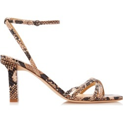 Aeyde Annabella Snake-Effect Leather Sandals found on MODAPINS from Moda Operandi for USD $360.00