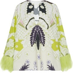 Valentino Printed Cotton Feather-Trimmed Top found on Bargain Bro India from Moda Operandi for $2200.00