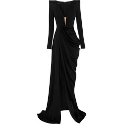 Alex Perry Bentley Silk Satin V-Neck Drape Gown found on MODAPINS from Moda Operandi for USD $2800.00