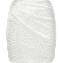 Alex Perry Harley Snake-Effect Satin Mini Skirt found on MODAPINS from Moda Operandi for USD $475.00