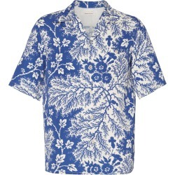Alexander McQueen Camp-Collar Printed Cotton-Poplin Shirt found on MODAPINS from Moda Operandi for USD $860.00