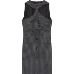 Ganni Stripe Suiting Twist Wool-Blend Mini Dress found on Bargain Bro Philippines from Moda Operandi for $525.00