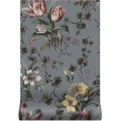House of Hackney Tulipa Wallpaper - Pewter