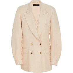Brandon Maxwell Double-Breasted Wool and Silk Blazer Jacket found on MODAPINS from Moda Operandi for USD $2695.00