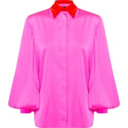 Alex Perry Sutton Silk Satin Ballon Sleeve Shirt W/ Cuff found on MODAPINS from Moda Operandi for USD $1400.00