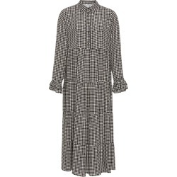 Ganni Plaid Crepe Midi Dress found on Bargain Bro Philippines from Moda Operandi for $270.00