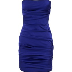 Alex Perry Strapless Ruched Satin Mini Dress found on MODAPINS from Moda Operandi for USD $800.00