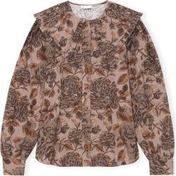 Ganni Printed Cotton Poplin Collared Shirt found on Bargain Bro Philippines from Moda Operandi for $215.00