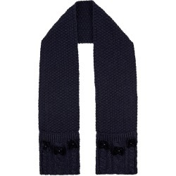 Monsoon Black Sparkle Bow Knitted Scarf With Recycled Fabric, in Size: One Size found on Bargain Bro UK from Monsoon