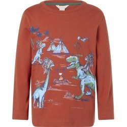 Monsoon Dinosaur Long-Sleeve T-shirt Red found on Bargain Bro UK from Monsoon