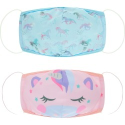 Monsoon Blue and Pink Face Covering Set, Unicorn Print, in Size: One Size found on Bargain Bro UK from Monsoon