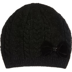 Stella Sparkle Bow Beanie Hat Black found on Bargain Bro UK from Monsoon