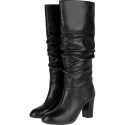 Slouch Leather Thigh Boots Black found on Bargain Bro UK from Monsoon