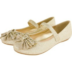 Monsoon Glitter Bow Ballerina Flats Gold found on Bargain Bro UK from Monsoon