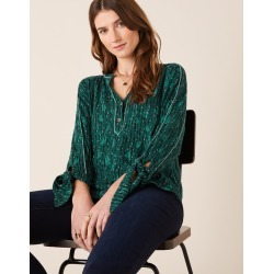 Monsoon Green Lisa Longline Shirt, Printed, in Size: L found on Bargain Bro UK from Monsoon