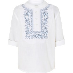 Monsoon Kurta Embroidered Shirt in Pure Cotton Blue found on Bargain Bro UK from Monsoon