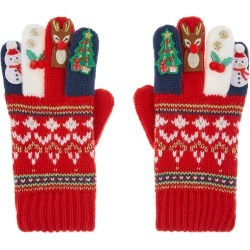 Festive Knit Gloves Red found on Bargain Bro UK from Monsoon