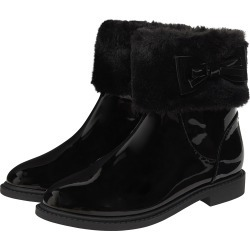 Monsoon Black Fluffy Trim Patent Ankle Boots, in Size: 06 (Baby) found on Bargain Bro UK from Monsoon