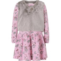 Monsoon Baby Jersey Dress and Fluffy Gilet Set Purple found on MODAPINS from Monsoon for USD $22.41