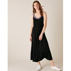 Monsoon Black Neck Jersey Dress, Embroidered, in Size: M found on Bargain Bro UK from Monsoon