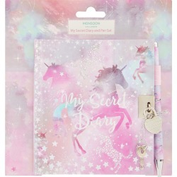 Monsoon Stardust Unicorn Diary and Pen Set, in Size: One Size found on Bargain Bro UK from Monsoon