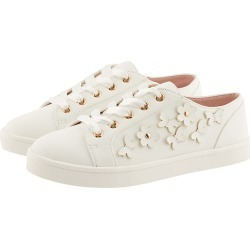 Monsoon Butterfly Trim Lace-Up Trainers Ivory found on Bargain Bro UK from Monsoon
