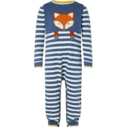 Monsoon Newborn Baby Fox Sleepsuit in Organic Cotton Blue found on Bargain Bro UK from Monsoon