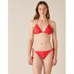 Monsoon Ladies Floral Bikini Briefs with Recycled Polyester Red, Black and Green, Size: 8 found on Bargain Bro UK from Monsoon